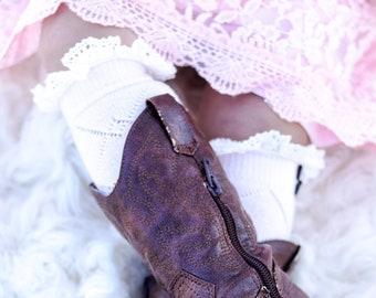 939e3a7859 Girls Boot Socks, Young Girls Boot Socks , Childs Lace Socks, Boot Socks, Lace  Socks, Girls Leg Warmers, Kids Boot Cuffs, Girls Boot Cuffs