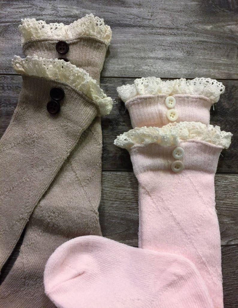 Boot Socks Girls Boot Cuffs Toddler Boot Socks Lace Socks Boot Socks Childs Lace Socks Girls Leg Warmers Kids Boot Cuffs Boot Sock