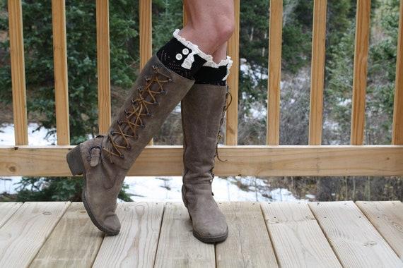 Boot Cuffs Boot Socks Womens Lace Boot