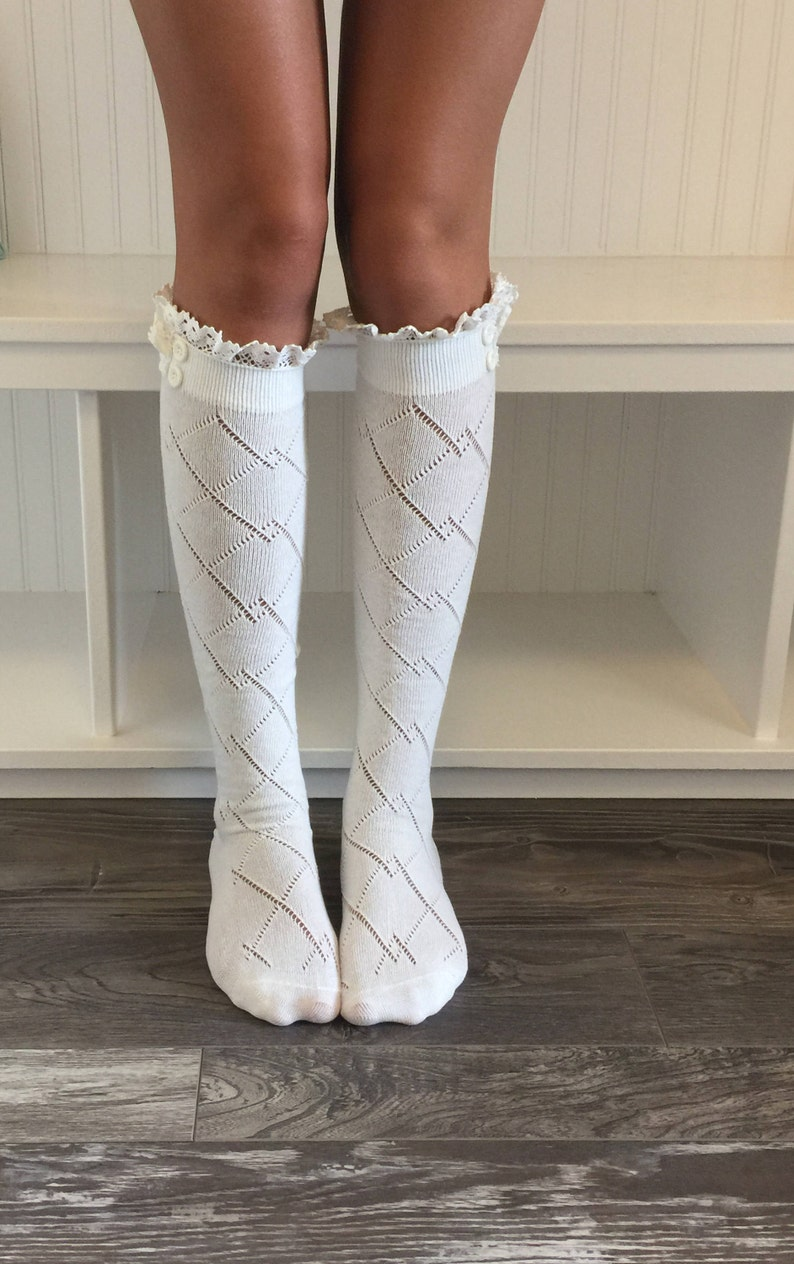88792e914e0 Sale Womens Boot Sock Lace Boot Socks Womens Lace Boot