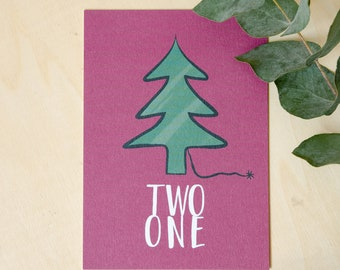 Christmas card: Three, two one