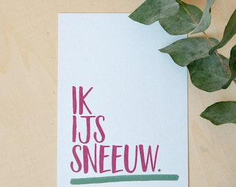 Christmas card: I ice snow