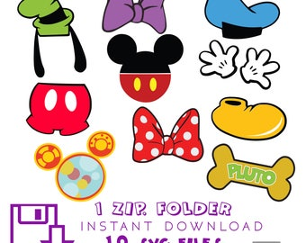 Mickey Mouse Clubhouse 10 SVG 10 AI FILES