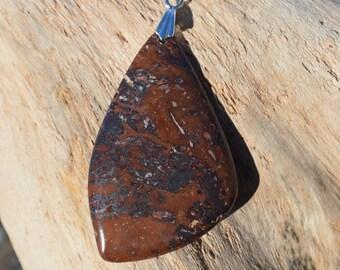 Lake Superior Brown Jasper Necklace for Women (Jaspelite) Pendant