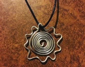 Aluminum Sun Necklace-- Summer Necklace