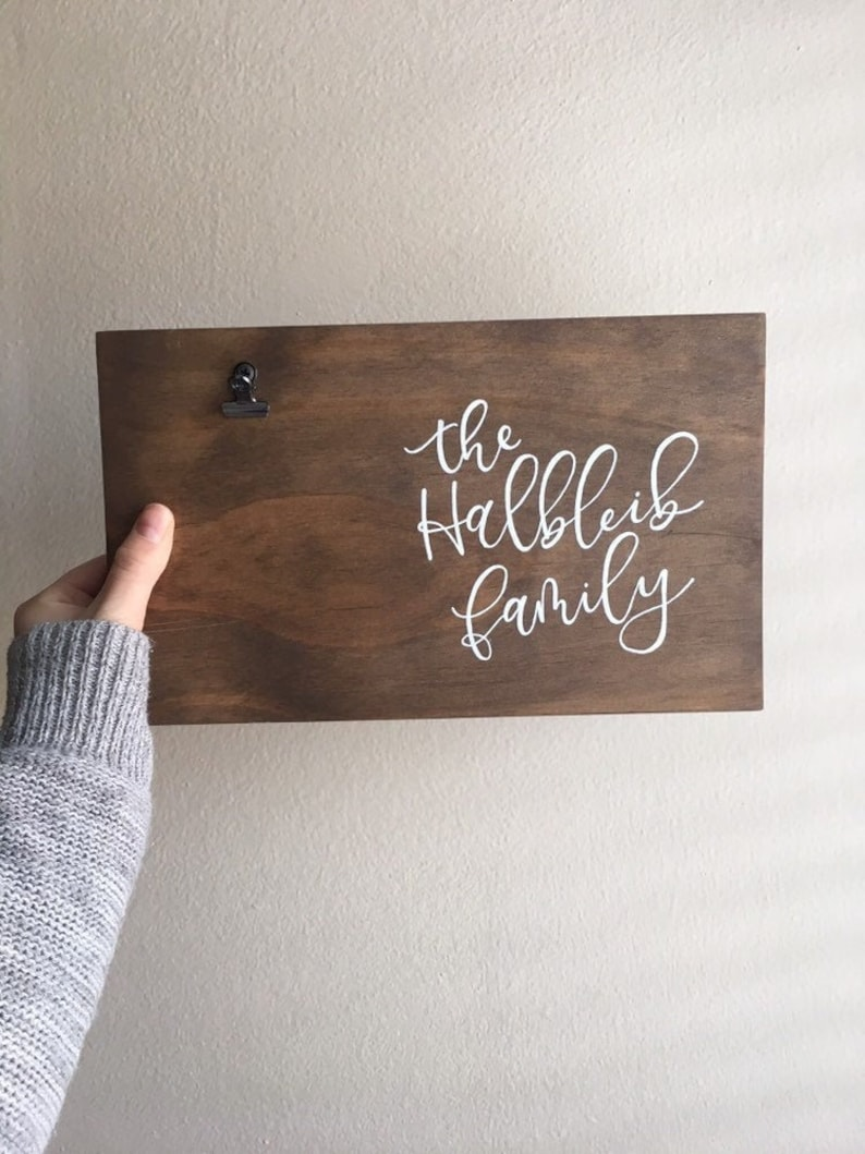 Family Picture Frame Last Name Picture Frame Custom Picture Frame