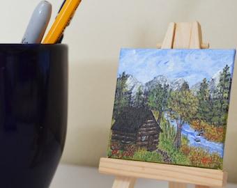Forest Escape - Mini Painting - Desktop Painting