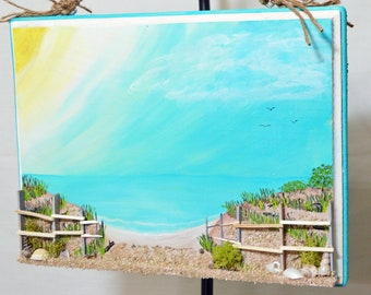 Ocean View - 3D Beach Painting - Mixed Media Painting