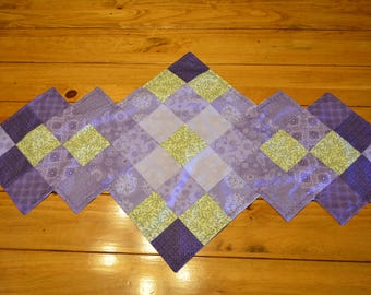 Purple Patchwork Table Runner
