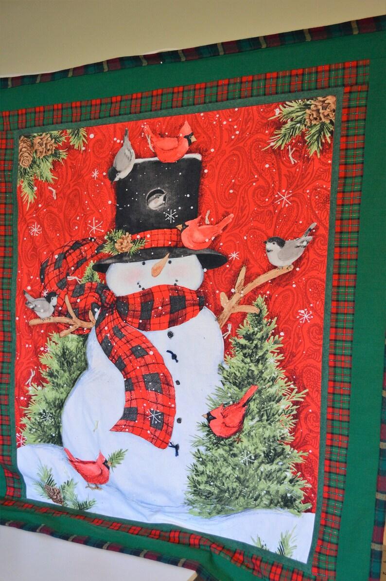 Snowman Throw Quilt