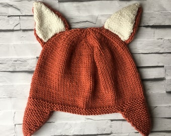 Cosy Knit Fox Hat