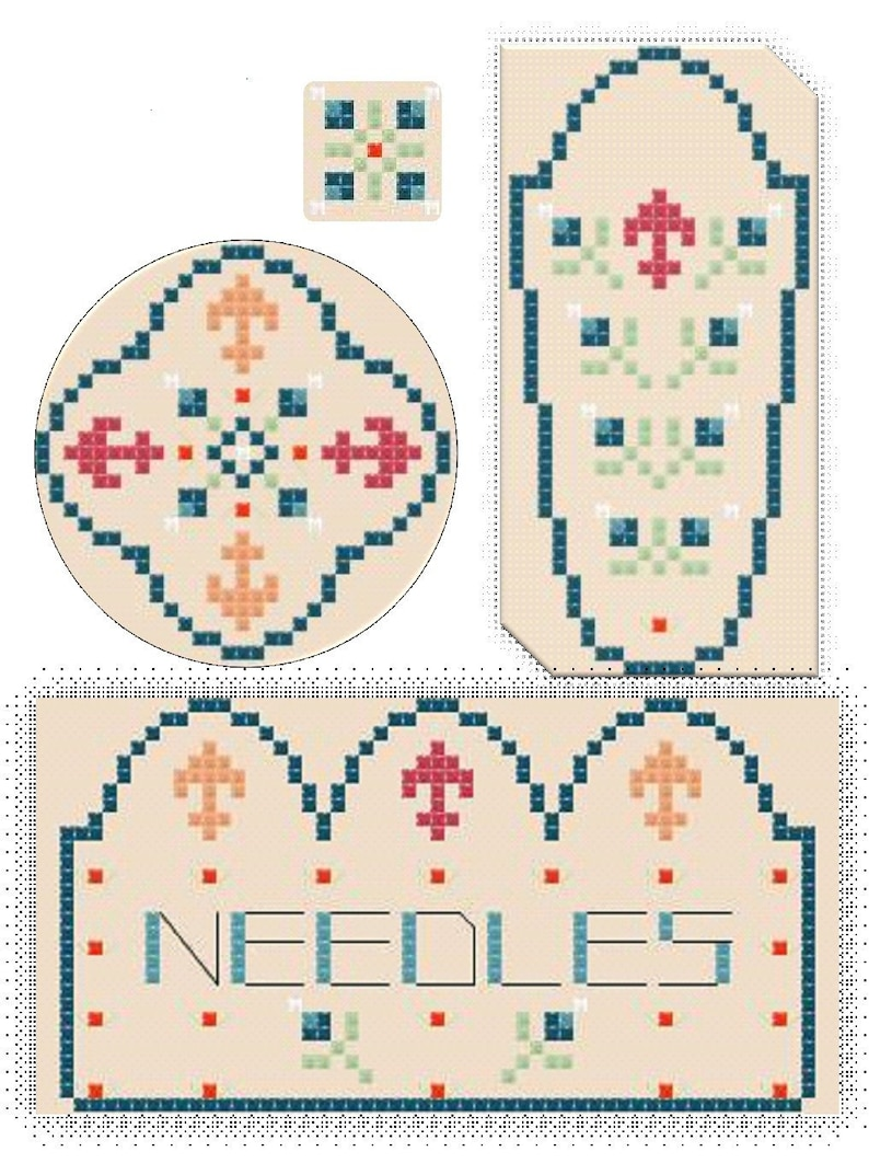 Needlecase pattern/Cross Stitch Pattern/PDF/Sewing image 0