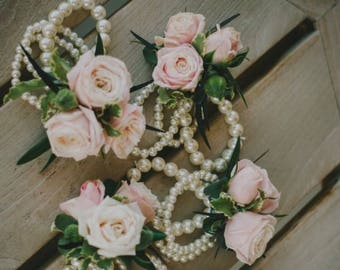Beaded rose corsage