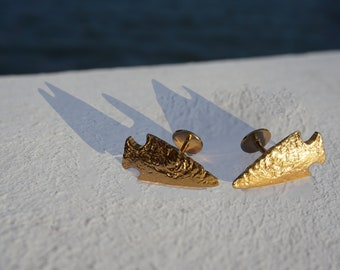 Gold Arrowhead Cufflinks