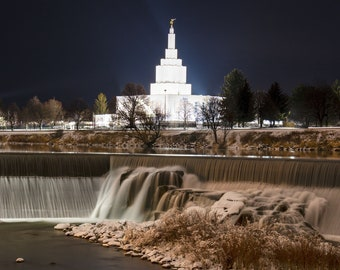Digital Download: Idaho Falls Waterfall