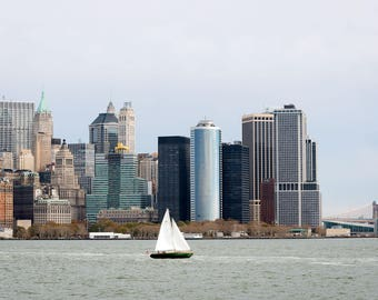 New York City Skyline with sailboat