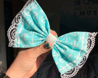 Lace Anchor Bow