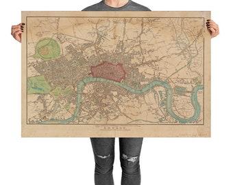 Large Maps Etsy - Oversized vintage maps