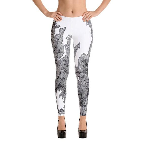 c98b2e6ac9001 Beautiful Leggings topography pattern Ladies leggings best