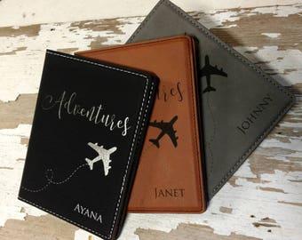 Passport Wallet, Passport Cover, Travel Wallet, Personalized Passport Cover, Passport Holder, Family Travel, Mr. and Mrs. Travel, Wedding