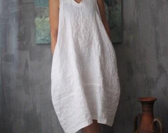 68eabbd0860 Organic linen dress