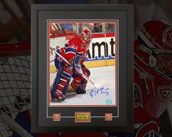 e4da81a41 Patrick Roy Montreal Canadiens signed 16x20 deluxe frame