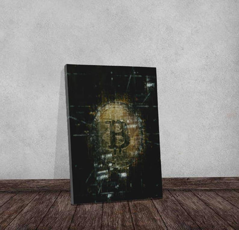 Best Seller Bitcoin Crypto Modern Art Motivational Artwork image 0