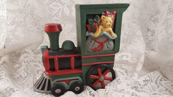 The Christmas Train Cast.Cast Iron Christmas Train Bank