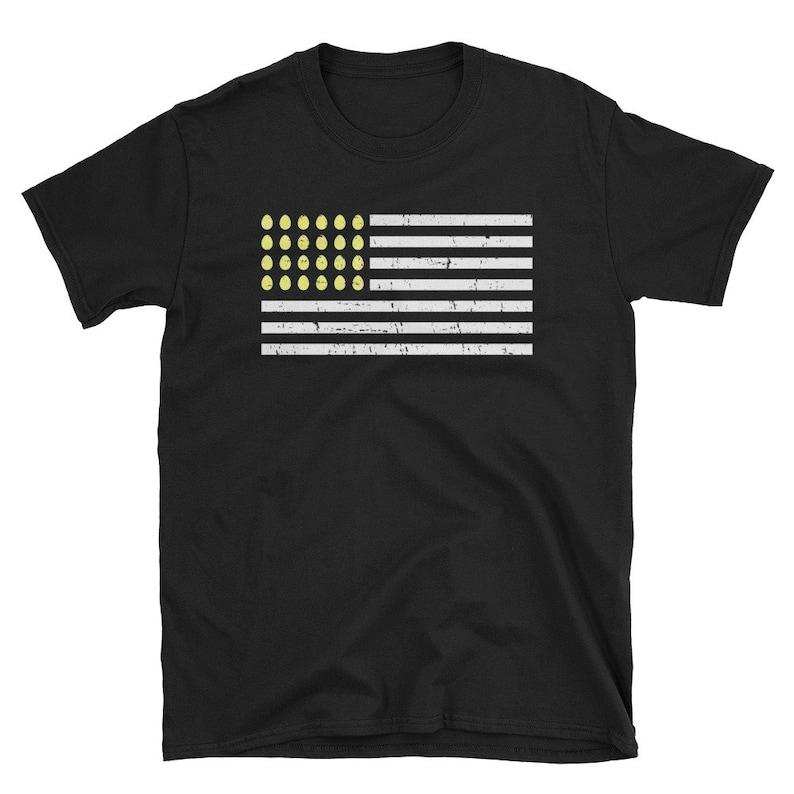 Yellow Easter Shirt USA flag tshirt Easter egg american flag image 0