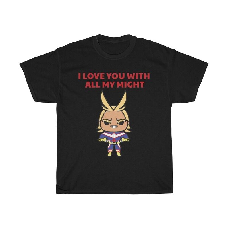 My Hero Academia Shirt All Might BNHA Tee Shirt Boku No Black