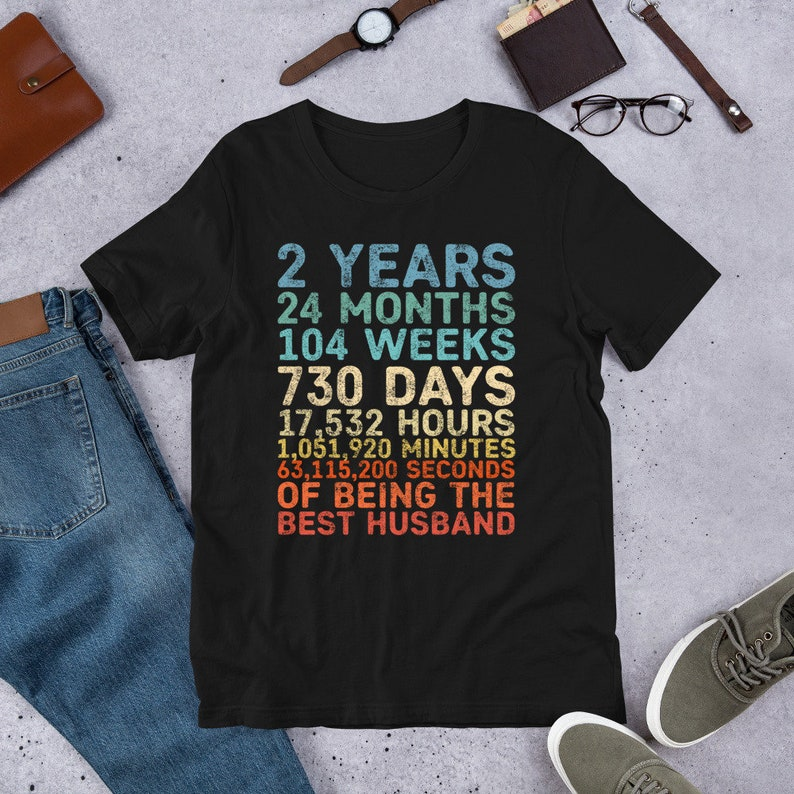 Personalized 2 Year Anniversary vintage tshirt 2nd year image 0