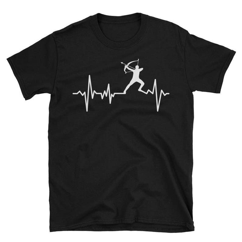 Archer Heartbeat T Shirt Archery Lover Tee Cool Graphic image 0