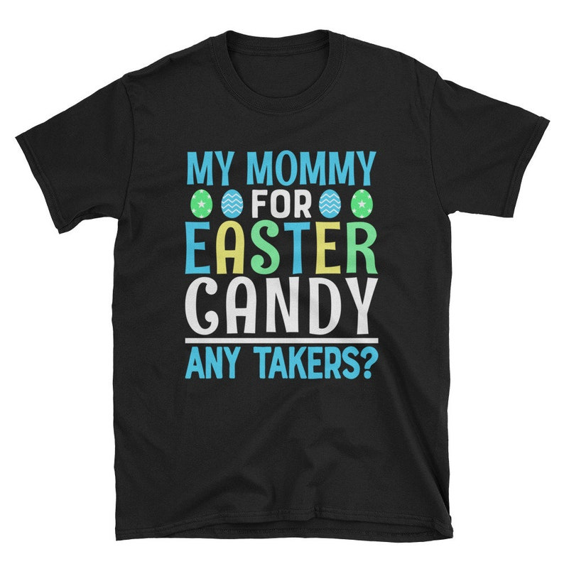 Colorful Easter Shirt Personalized Funny Family Holiday Tee image 0
