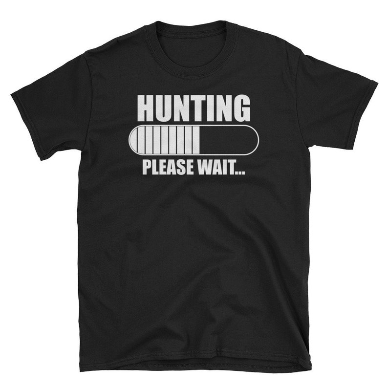 Hunting Please Wait Shirt Easter Hunt Tee Funny Easter Pun image 0