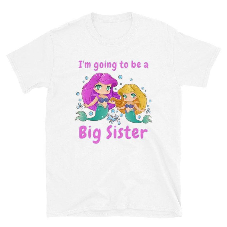 Mermaid Big Sister Shirt I'm going to Be a Big Sister image 0