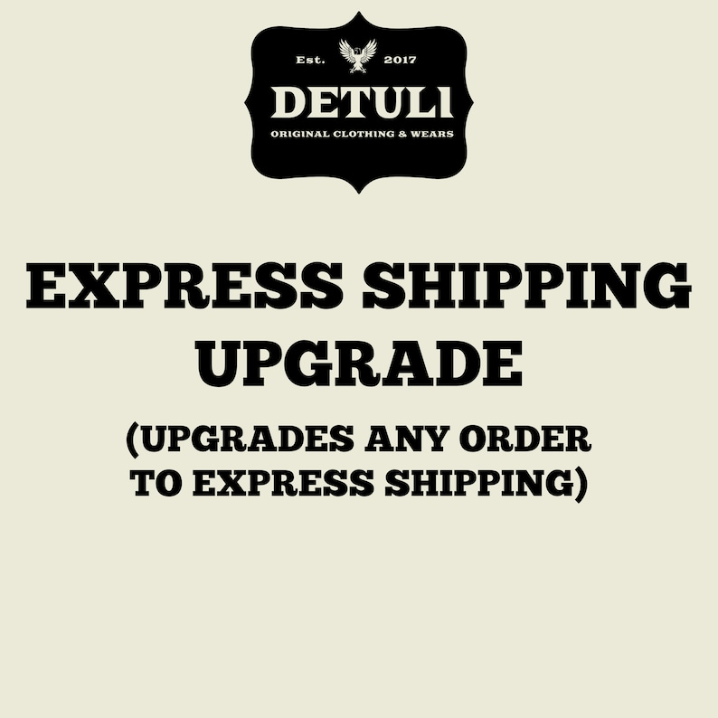 Express Shipping Upgrade for Orders at Detuli 1-3 Day image 0