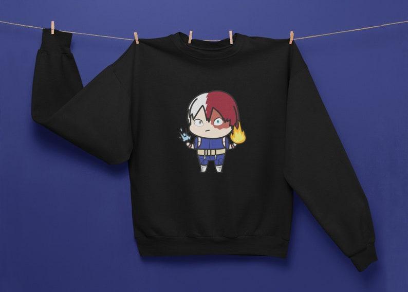 My Hero Academia Sweatshirt Shoto Todoroki Shirt MHA Anime image 0