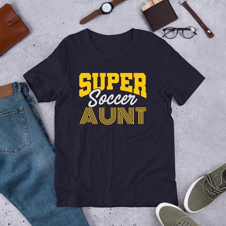 Super Soccer Aunt TShirt Retro Soccer Tee Soccer Mom Soccer Navy