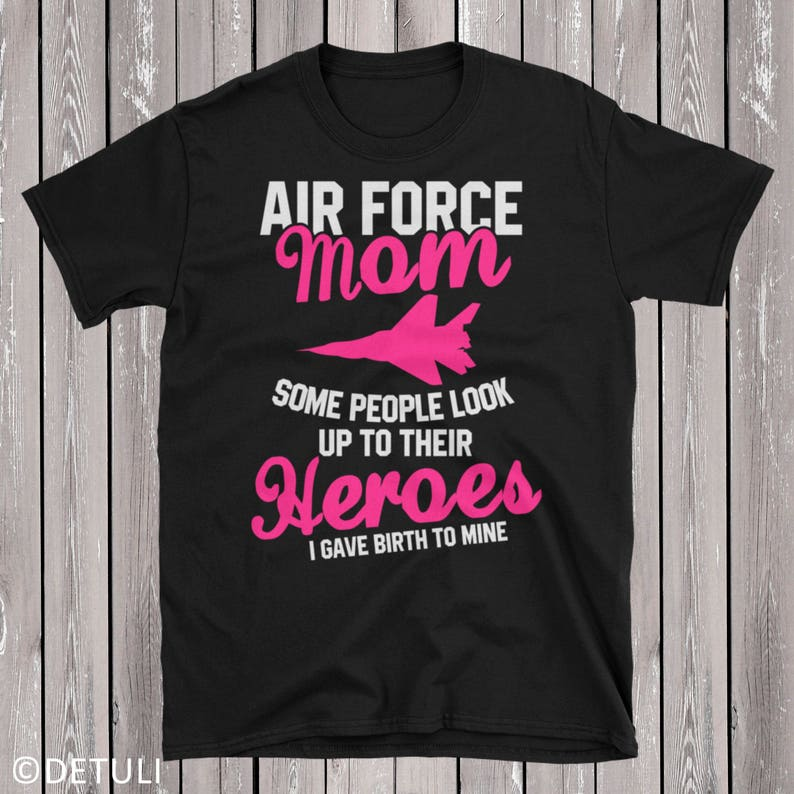 Air Force Mom T-Shirt Air Force Mother Short-Sleeve Unisex image 0
