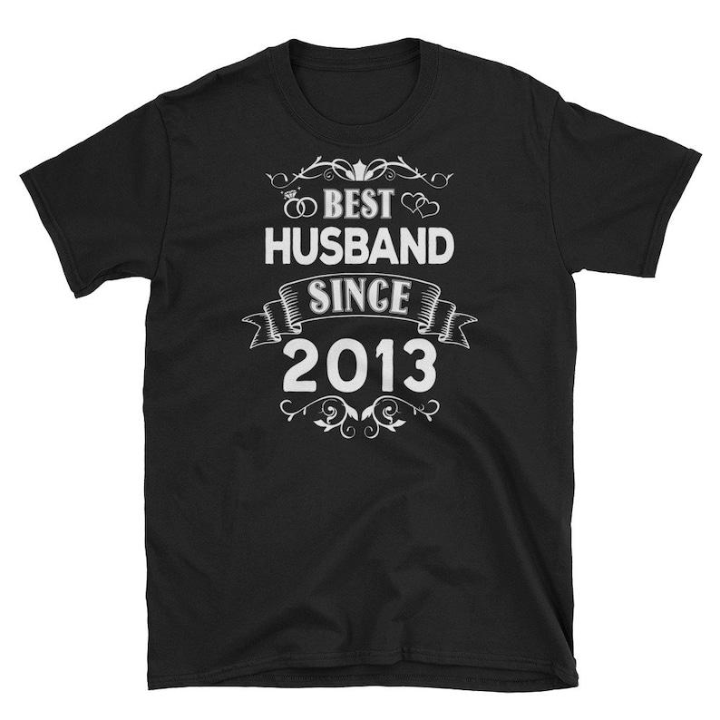 Best Husband Since 2013 Shirt 6th Wedding Anniversary Gift image 0