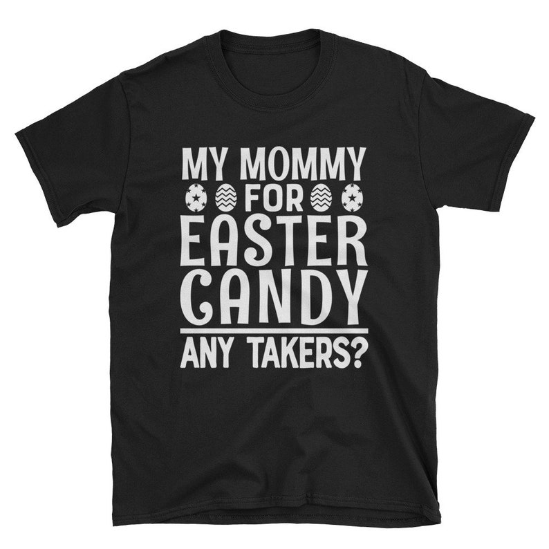 Personalized Kids Easter Shirt My Mommy For Easter Candy Any image 0