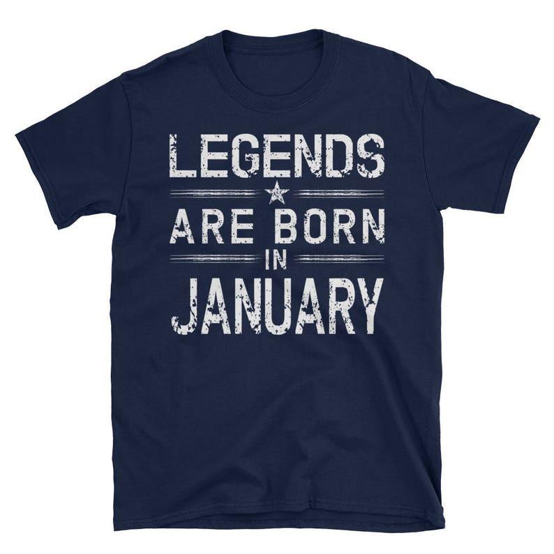 5a58e012f Legends Born In January T-Shirt January Birthday Short-Sleeve | Etsy