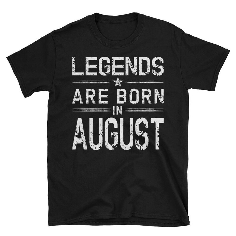 Legends Born In August T-Shirt August Birthday Short-Sleeve image 0