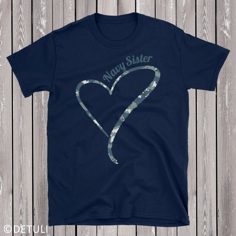 Proud Navy Sister Shirt Cute Gift For Her Soldier Sister image 0