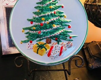 Vintage 1982 Sigma the Tastesetter Christmas Tree, Presents, and Holly Hanging Decoration