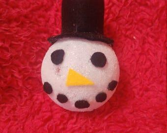 Glitter snowman bauble