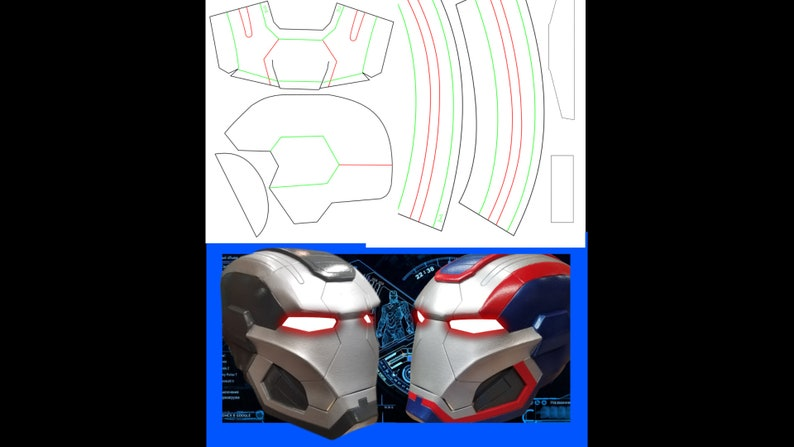Iron Patriot War Machine Printable Templates Etsy