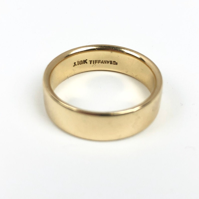 Vintage Tiffany Co 18k Gold Band Tiffany Ring Gold Etsy