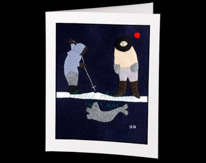 "Inuit Greeting Card #5 ""A Long Wait"" by Annie Aculiak"
