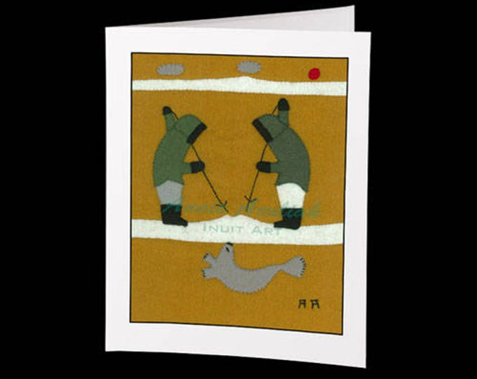"Inuit Greeting Card #4 ""The Hunters"" by Annie Aculiak"